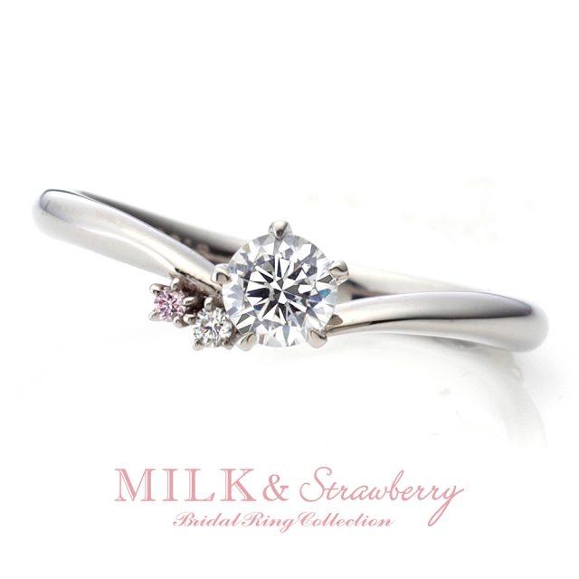 MILK & Strawberry – ボヌール エンゲージリング