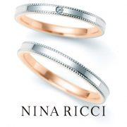 さりげないアクセントが魅力のコンビリング【婚約指輪・結婚指輪のJKプラネット】