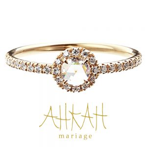 AHKAH – Vivian Rose Ring ゴールド