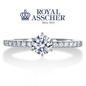 ロイヤルアッシャーダイヤモンド 婚約指輪 ERA688