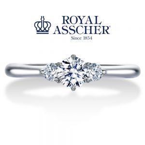 ロイヤルアッシャーダイヤモンド 婚約指輪 ERA693