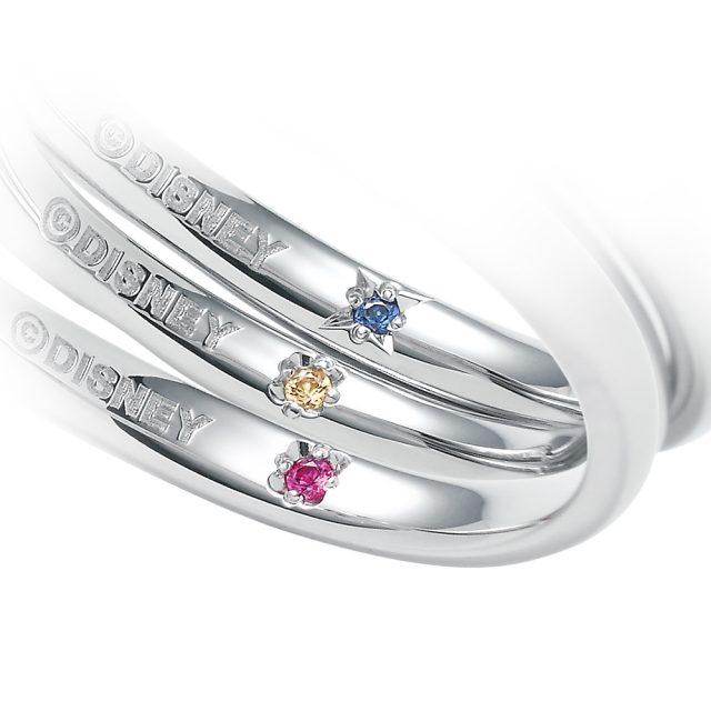 ディズニー「美女と野獣」願いを込めた宝石をリング内側に。