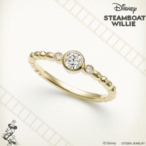 ディズニー スチームボートウィリー ハッピー フラワー エンゲージリング【Disney STEAMBOAT WILLIE】