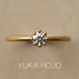YUKA HOJO – Capri / カプリ エンゲージリング(イエローゴールド)