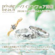 ビーチを創り出す、すべてのモチーフを結婚指輪・婚約指輪に。ハワイアンジュエリーブランド privatebeach-プライベートビーチ-【結婚指輪・婚約指輪のJK Planet】