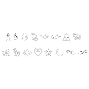 ディズニープリンセス 「アラジン」 特別なオリジナル絵文字刻印