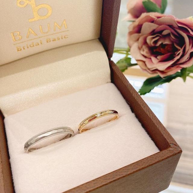 ケース入り結婚指輪画像 - BAUM CRAPE MYRTLE [クレープミルテ]