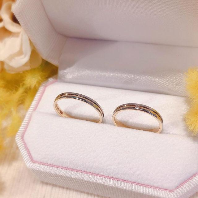 ケース入り結婚指輪画像 - Honey Bride ハニーブライド Himawari / ヒマワリ