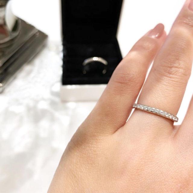 着画 フォーエバーマーク エタニティリング/AMR001PT 結婚指輪 婚約指輪