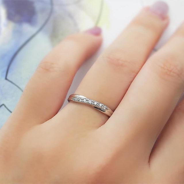 着画 - Something Blue - Ribbon/リボン  SP814/SP815 結婚指輪