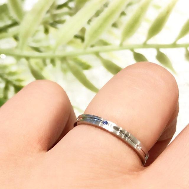 着画 - Something Blue Aither - Flowing/ フローイング SH708/SH709 結婚指輪