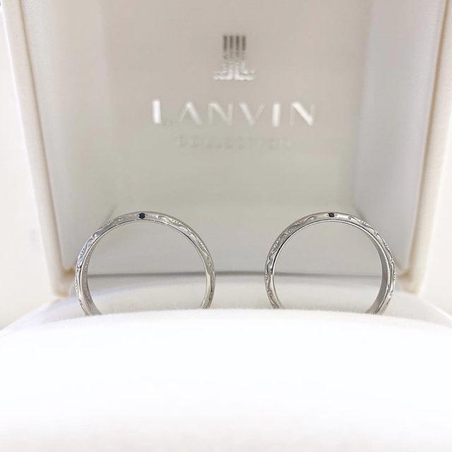 マリッジリング側面 LANVIN[ランバン]結婚指輪 品番 5924048