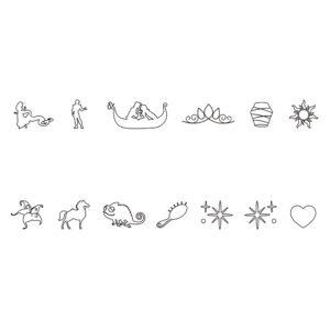 ディズニープリンセス 「ラプンツェル」 特別なオリジナル絵文字刻印