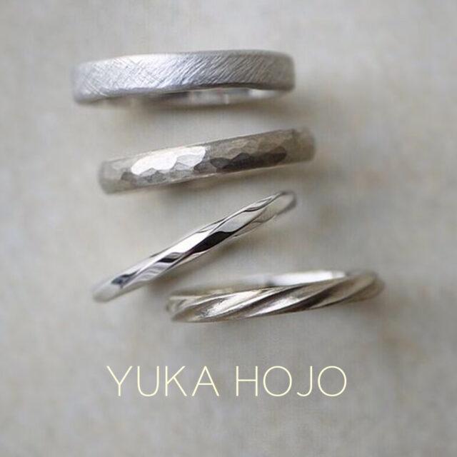 結婚指輪メンズ - YUKA HOJO - Weave/ウィーヴ Passage of time/パッセージオブタイム Ray of light/レイオブライト Current/カレント