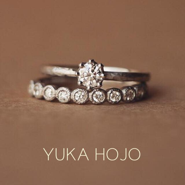 重ね着けイメージ画像 - YUKA HOJO - Capri / カプリ-婚約指輪  Bloom / ブルーム-エタニティリング