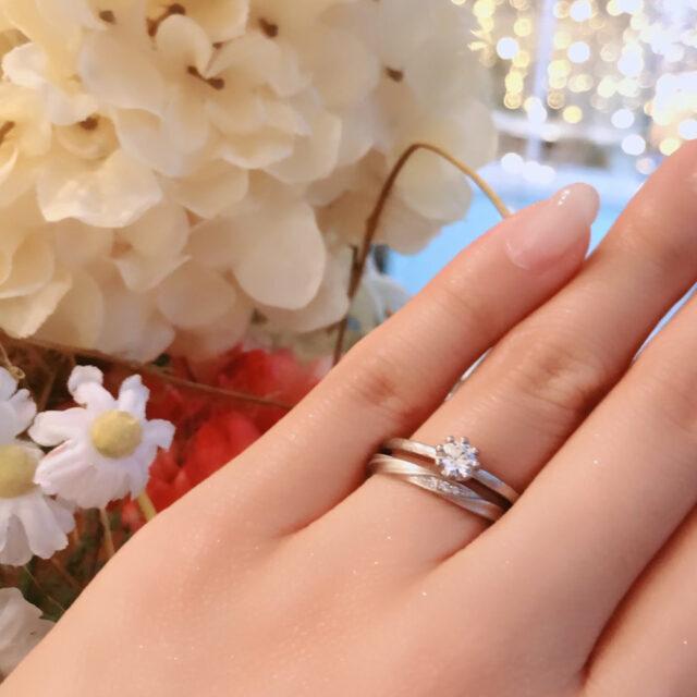 着画 - YUKA HOJO - Capri / カプリ-婚約指輪  Current / カレント-結婚指輪