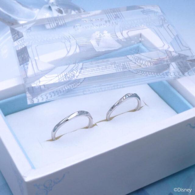 マリッジリングケース・ディズニーシンデレラ クリスタル・オブ・マジック 結婚指輪(2021年期間数量限定モデル)