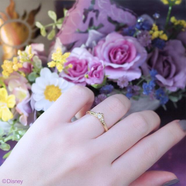 着画・Disney Tangled ディズニー「ラプンツェル」 【Tiara of Promise〜約束のティアラ〜】 婚約指輪 (2021〜2022期間数量限定モデル)