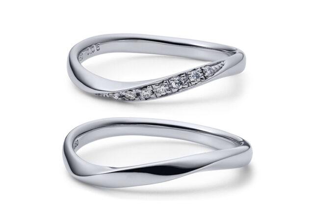 JKPlanetオススメ「ウェーブ(S字・V字)」の結婚指輪・婚約指輪人気デザイン特集!【ブライダルリング専門セレクトショップJKプラネット】