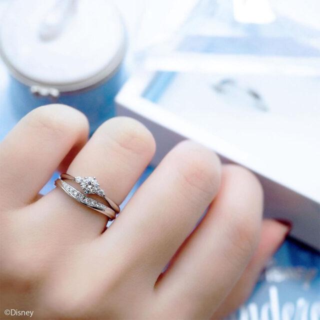 ディズニーシンデレラ-ユーアー・マイプリンセス-インスタ-結婚指輪-重ね着け