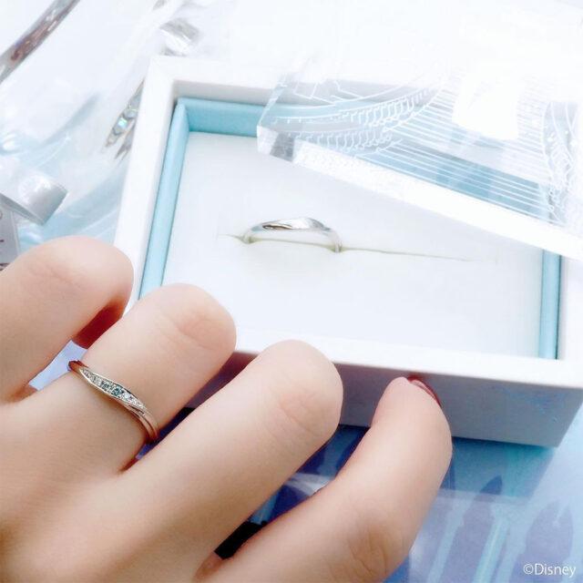 ディズニーシンデレラ-ラスティング・マジック-インスタ画像-結婚指輪-着画